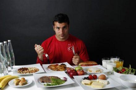 alimentação para jogadores de futebol